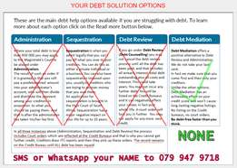 Debt Killing You? Blacklisting, Court Orders, Credit Bureua, Resposses
