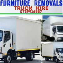 Truck for hire closed body 4 ton