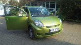 Toyota passo, year 2010, green in color, 1000cc, in very good conditio