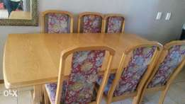 6 seater okewood table with chairs