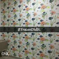 Colourful petal wallpapers. Fracan Wallpaper Abuja.