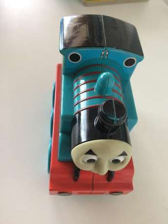 Thomas (talking & driving forward toy Train) and x 10 Story Books Norwood - image 1