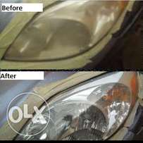 Headlight cleaning services
