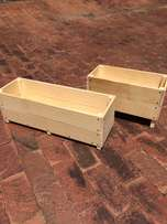 Wooden boxes for Flowers, Vegetable or Herbs