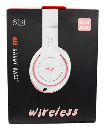 Big Daddy Bass 6S Wireless Bluetooth Headset - White & Rose Allsops - image 4