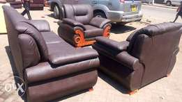 Brown leather seats 5seater