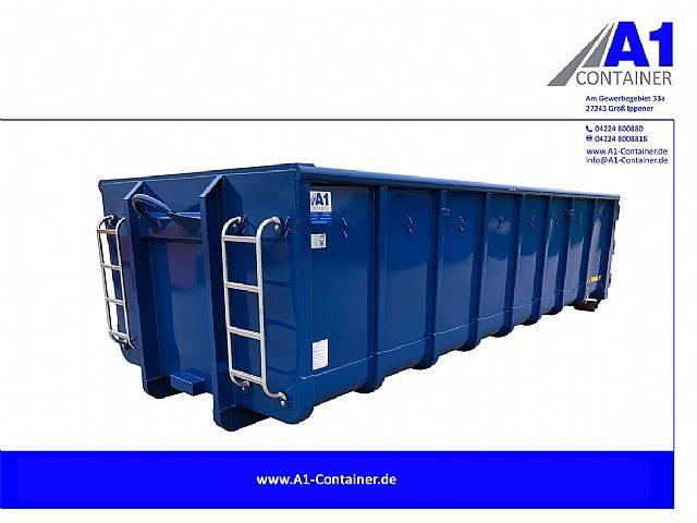 Normbehälter 22 m³ Doppelflügeltür - BLAU - 2019
