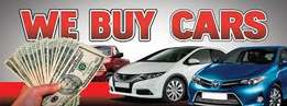 We buy Cars, Bakkies and SUV's for cash!!
