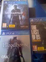 uncharted 4 + Bloodborne + The last of us