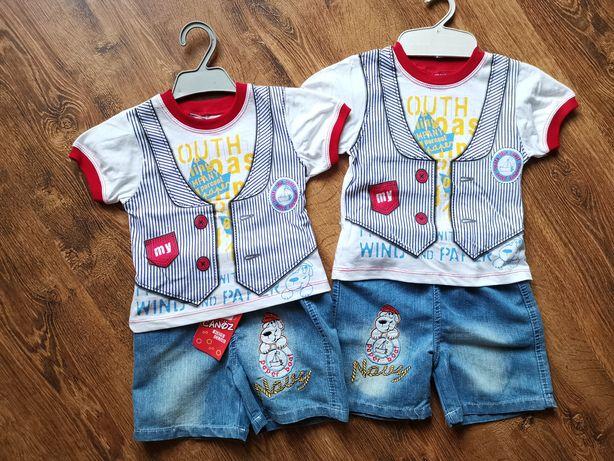 e5ea9c0e3aa80d NOWY komplet na lato dla chłopca koszulka i spodenki rozmiar 86, 92  Jastrzębie-Zdrój
