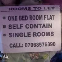 single and self-contained rooms for rent at works layout