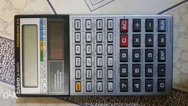 Casio FX3600PV programable calculator