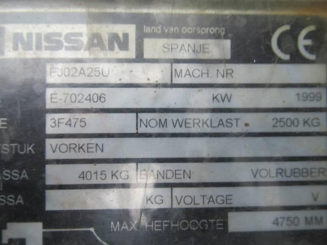 Nissan 25 Diesel FJ02A25U Heftruck 2.5T - 1999 - image 7