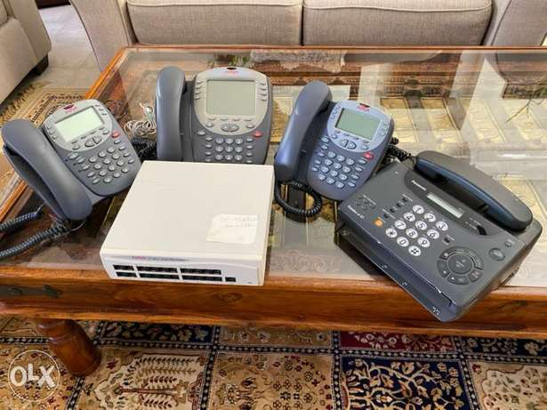 IP Office Telephone system 3 lines and Panasonic fax machine