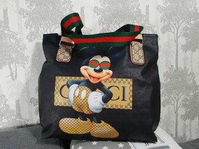 5210ed481 Gucci Mickey Mouse kozena velka luxusna kabelka - Dámska móda ...