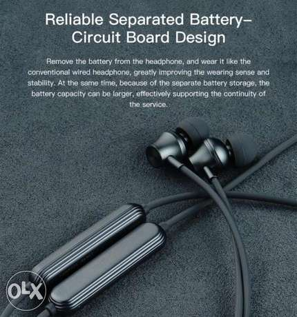 Whizzer J2 Necklace Bluetooth Earphone Wireless Earbuds with Mic and I الرياض -  4