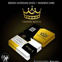 Design Awesome logo + Business cards + Printing (100 copies)