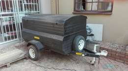 Trailer double bin 3 spare tyers and rims