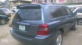 Toyota Highlander 2005model 3seater rows