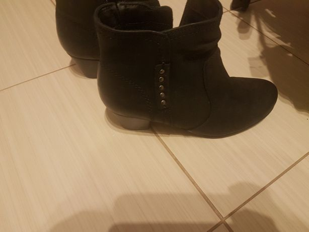 Botki buty ze skóry jesienno zimowe damskie JANA r. 38.5