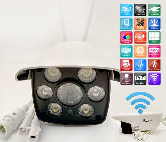 Уличная беспроводная IP WiFi камера с микрофоном IR и LED подсветкой Киев - изображение 2