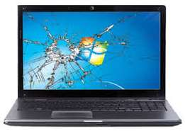 We replace laptop screens at 7000/= This includes labour plus service.