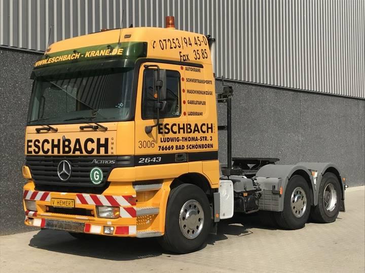 Mercedes-Benz Actros 2643 6x4 Big Axle 13T axle Retarder 120T Hydraulic... - 2001