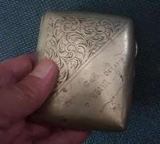 Genuine 100 Year Old Engraved EPNS Silver Cigarette Case