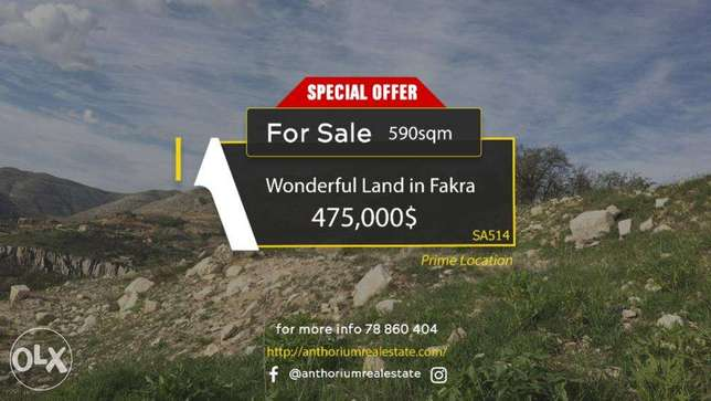 WONDERFUL Land in Fakra with AMAZING Viewأرض في فقرا ٥٩٠ م٢ فقرا -  5