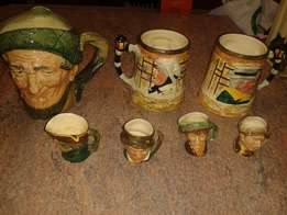 Toby Jugs, assorted ,to sell as a lot or individually