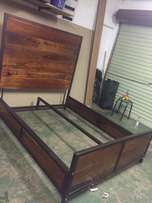 One of a kind steel and wood bed
