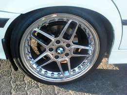 """18"""" AC Schnitzer rims 5/120 pcd and 225/40/18 tyres for only R8500!"""