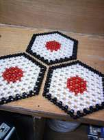 Long lasting beaded table mats