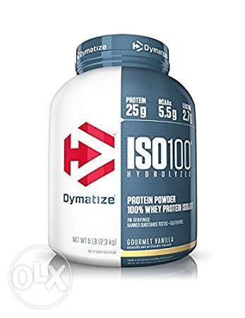 Dymatize ISO-100 whey protein - with free customized diet plan