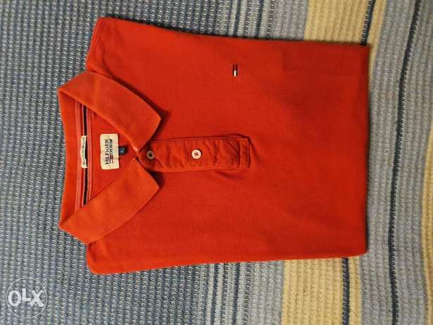 Tommy Hilfiger Polo Shirt L Red Color تيشرت تومي هيلفيجر
