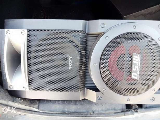 Sony extra bass subwoofer with speakers pair