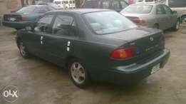 Registered Toyota Corolla 2001model 3month used