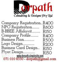 Company Registration for only R400!