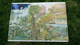 1500 piece completed nature/rainforest puzzle