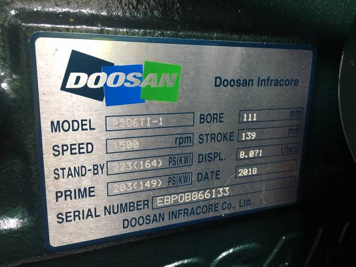 Doosan P086TI-1 - 185 kVA Generator - DPX-15549.1 - 2019 - image 13