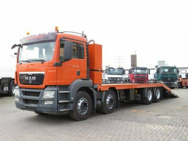 MAN TG S 35.400 8x4 BL Pritsche hydr. Rampen+Winde - 2009