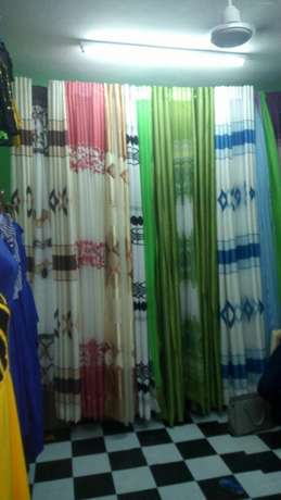 Ready made durable and elegant curtains with matching sheer. 900/- Bamburi - image 2