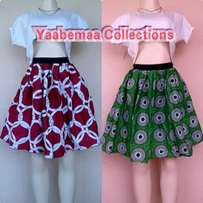Colourful skirts available