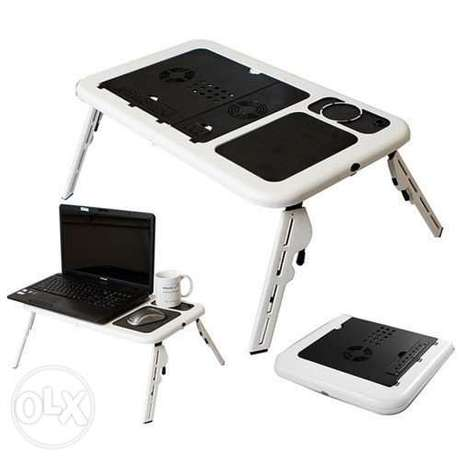 E-table Portable Laptop Table/Desk with Cooler Fan LD09