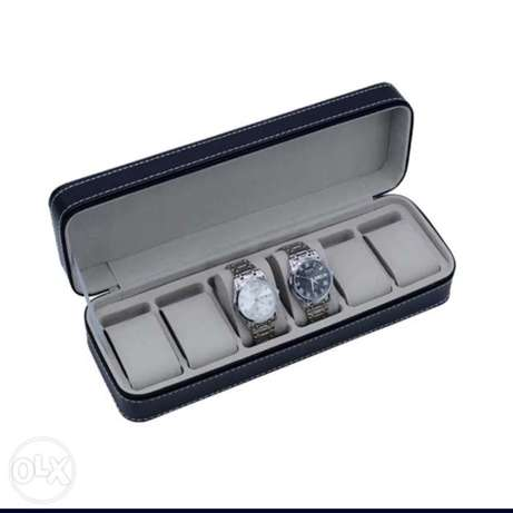 Leather watchbox for 6 watches (instagram- time.shop.per)