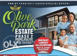 Land With Approved Excision For N1.5M - Olive Park Estate Phase 2