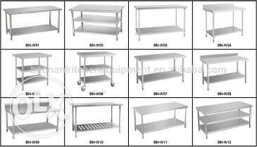 Steel table sink hood all size available