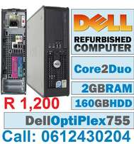 A lot of refurbished Dell SFF and Monitors
