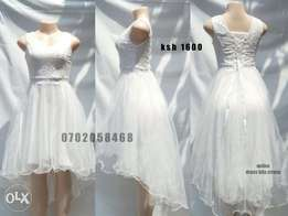 White high low dress available m,L,XL