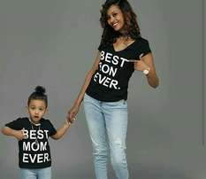 Matching mommy-son T-shirt